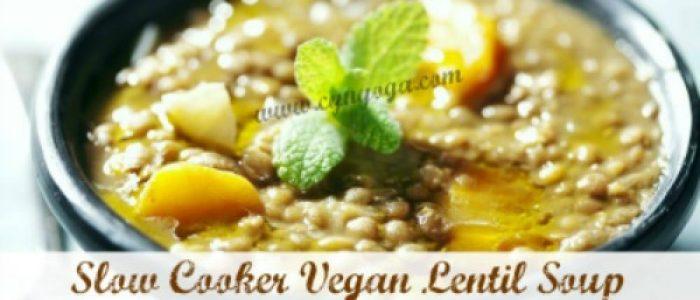 Slow Cooker Vegan Lentil Soup