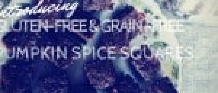 Gluten-free & Grain-free Pumpkin Spice Squares