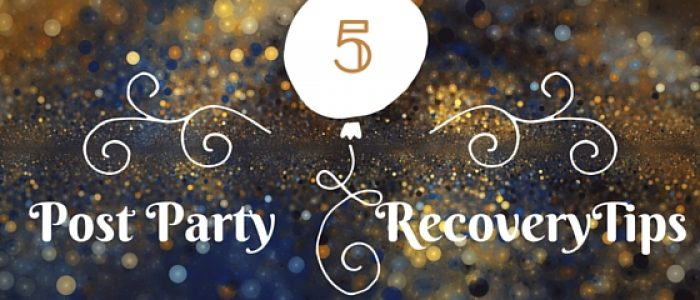 Holiday parties, New Year's eve, and how to recover the day after