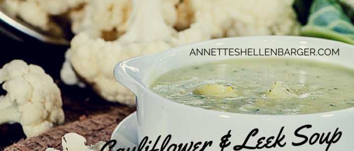 Spring Cauliflower & Leek Soup